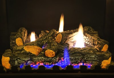 Realistic gas logs